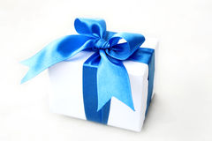 Gift. A Gift wrapped with blue ribbon Royalty Free Stock Photography