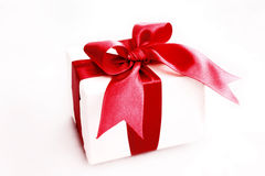 Gift. A Gift wrapped with red ribbon Stock Photo