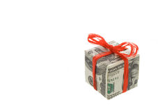 Gift. Made of dollars banknotes Stock Images