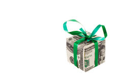Gift. Made of dollars banknotes Stock Image