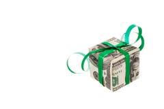 Gift. Made of dollars banknotes Royalty Free Stock Image