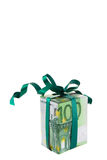 Gift. Made of euro banknotes Royalty Free Stock Photography