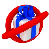 Gift. In this place gift you do not get Royalty Free Stock Photo
