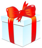 Gift. A box with a gift. Vector illustration Royalty Free Stock Photos