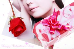 Free Gift And Rose Stock Photos - 8010913