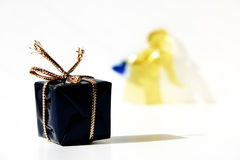 Gift and an angel royalty free stock photo