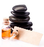 Gift of an aromatherapy massage Royalty Free Stock Images
