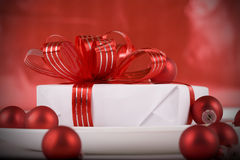 Gift  as table decorations Stock Image