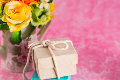 Gift on a background Stock Photos