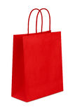 Gift bag. Red gift bag isolated on the white background, clipping path included Royalty Free Stock Photography