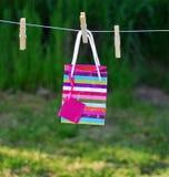 Gift bag. Hanging in the garden Stock Photo