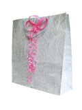 Gift bag with a bow Stock Images