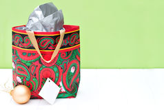 Gift bag for Christmas Stock Photography