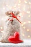 Gift bag with Christmas gifts. Christmas Decor. Stock Photography