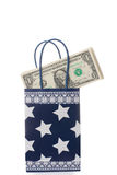 Gift bag with  dollars Royalty Free Stock Photo