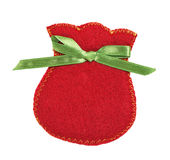Gift bag from felt Royalty Free Stock Images