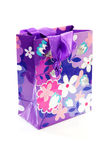Gift bag with floral print Stock Images