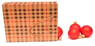 Gift bag full of christmas toys Stock Photo