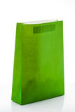 Gift bag of green paper Royalty Free Stock Photo