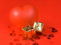 Gift bag heart Stock Images
