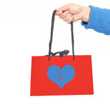 Gift bag with I love you Stock Photo