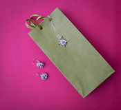 Gift bag with jewelry Stock Image