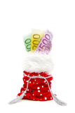 Gift bag with money Royalty Free Stock Photo