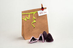 Gift bag with sweets Royalty Free Stock Photos