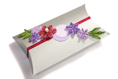 Gift bag with tissue Stock Images