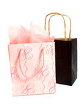Gift Bags. Pink and Black Gift Bags isolated over white background Royalty Free Stock Images