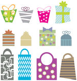 Gift bags and boxes Royalty Free Stock Photo