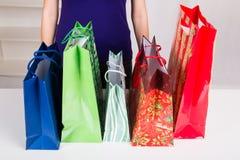 Gift Bags for Christmas Stock Image