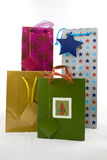 Gift bags isolated on white Stock Image