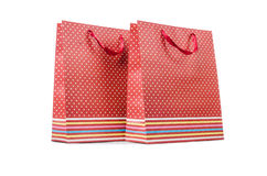 Gift bags isolated on the white background Royalty Free Stock Photography