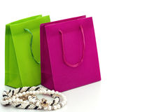 Gift bags with jewellery Royalty Free Stock Image