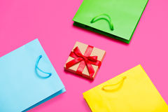 Gift and bags Royalty Free Stock Photo