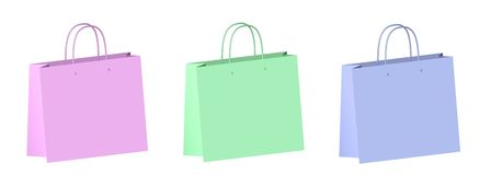 Gift Bags Spring Colors Royalty Free Stock Photography