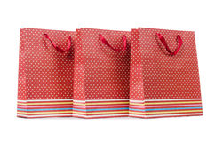 Gift bags  on the white background Royalty Free Stock Images