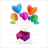Gift balloon Stock Photo