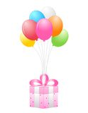 Gift and balloons Royalty Free Stock Images