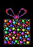 Gift with balls. Abstract gift with different colors of balls Stock Photo
