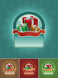 Gift banner set Royalty Free Stock Images