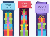 Gift banners. Stock Image