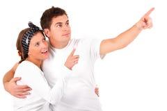 gift barn för par Royaltyfri Fotografi