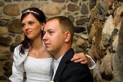 gift barn för par Royaltyfria Foton