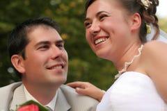 gift barn för par Royaltyfria Bilder