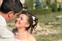 gift barn för par Fotografering för Bildbyråer