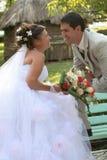 gift barn för par royaltyfri bild