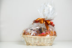 Gift basket Royalty Free Stock Photos