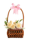Gift basket of artificial flowers Stock Photography